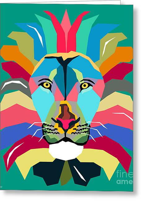 Contemporary Equine Greeting Cards - Wpap Lion Greeting Card by Mark Ashkenazi