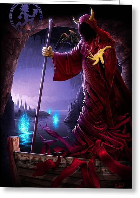 Wraith Greeting Cards - Wraith Ferryman Greeting Card by Tom Wood