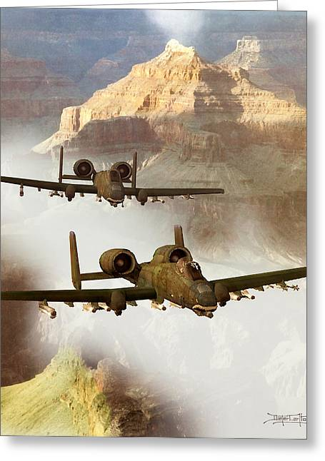 Dieter Carlton Greeting Cards - Wrath of the Warthog Greeting Card by Dieter Carlton