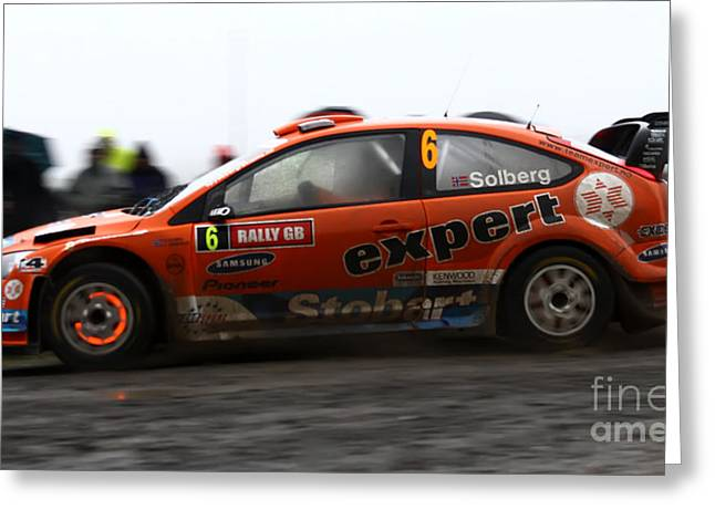 Wrc Greeting Cards - WRC Hot Brakes Greeting Card by Graham Downer