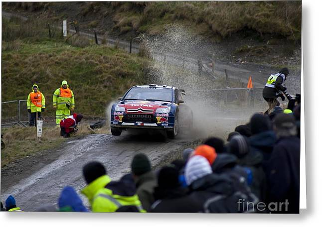 Wrc Greeting Cards - WRC Jump 1 Greeting Card by Graham Downer