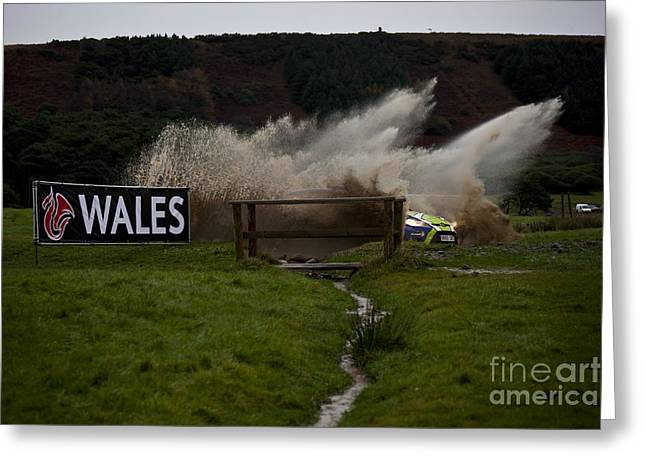 Wrc Greeting Cards - WRC Water Splash Greeting Card by Graham Downer