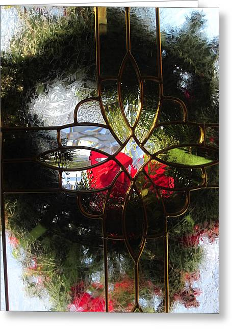 Translucence Greeting Cards - Wreath in Abstract Greeting Card by Guy Ricketts