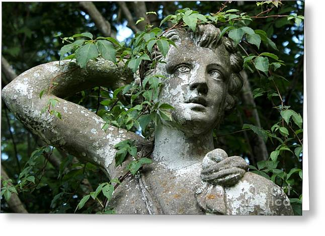 Garden Statuary Greeting Cards - Wreathed in Nature Greeting Card by Theresa Willingham