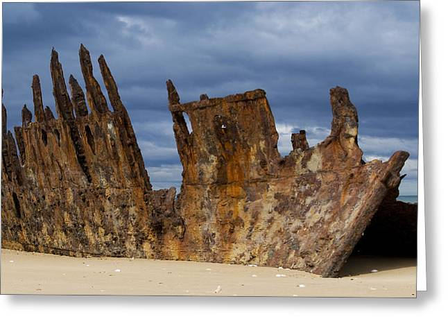 Ninety Mile Beach Greeting Cards - Wreck of the Trinculo Greeting Card by Heather Provan