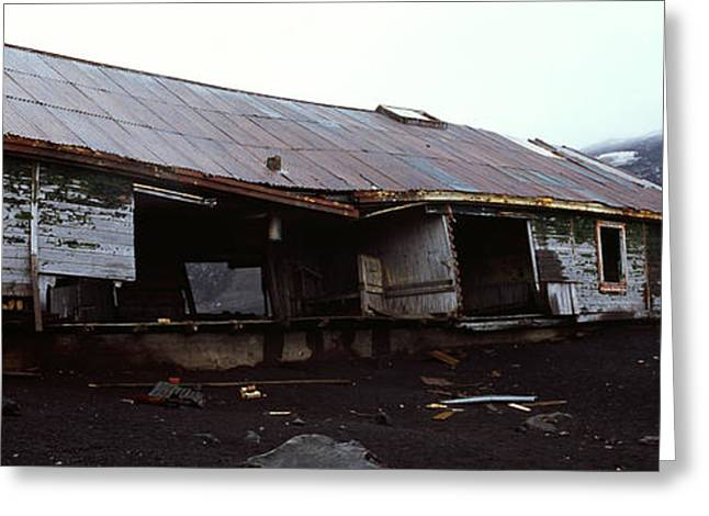 Debris Greeting Cards - Wreckage Of A Whaling Station, Whalers Greeting Card by Panoramic Images