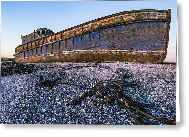 Scuttle Greeting Cards - Wrecked ship Greeting Card by Science Photo Library