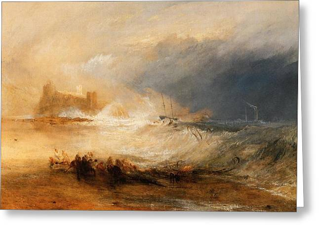 Painter Of Light Greeting Cards - Wreckers off the coast of Northumberland Greeting Card by J M W Turner