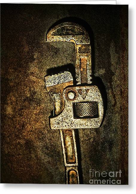 Hardware Greeting Cards - Wrench Greeting Card by HD Connelly