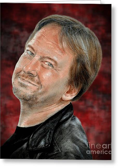 Vince Greeting Cards - Wrestling Legend Roddy Piper Altered Version Greeting Card by Jim Fitzpatrick