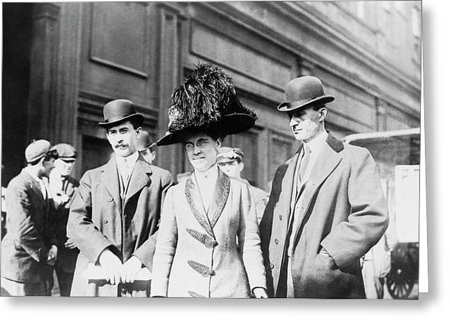 Wright Brothers And Sister Greeting Card by Library Of Congress