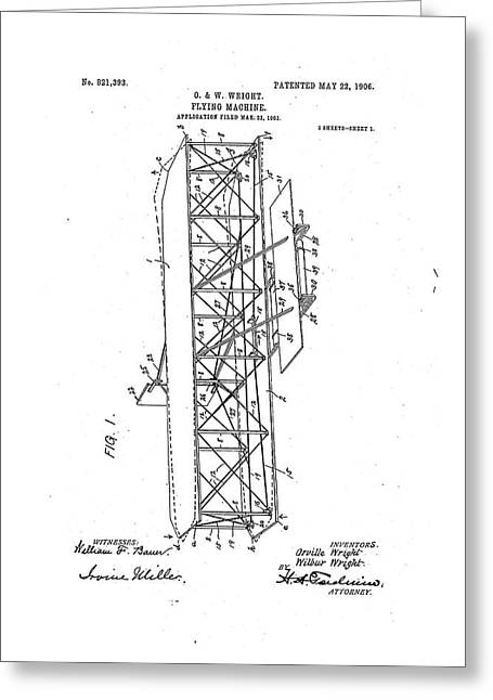 Wright Flyer Patent Greeting Card by Us National Archives