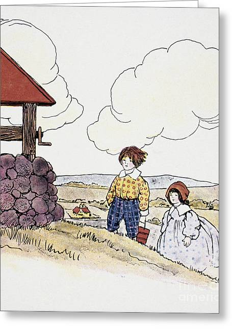 Mother Goose Greeting Cards - Wright: Jack & Jill Greeting Card by Granger