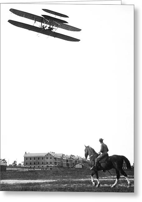 Wright Military Flyer Greeting Card by Library Of Congress