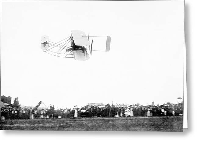 Wright Model A Airplane Greeting Card by Library Of Congress