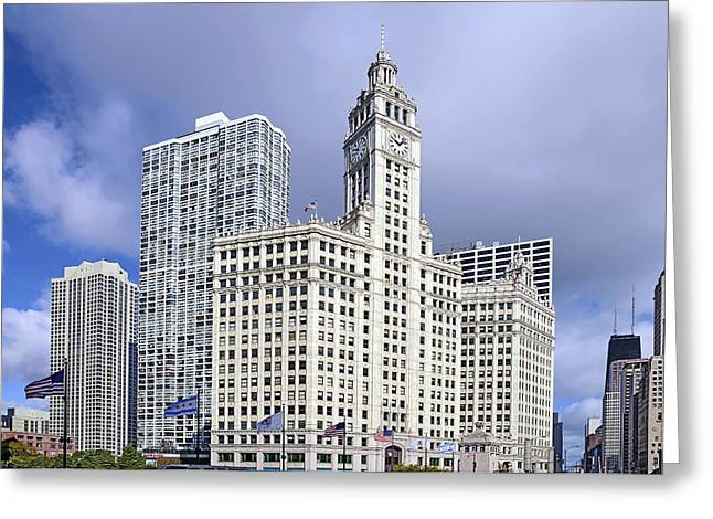 Interior Scene Greeting Cards - Wrigley Building Chicago Greeting Card by Christine Till