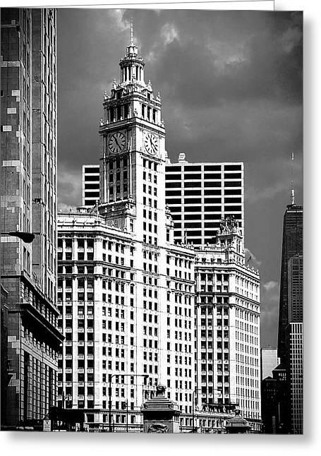 High Rise Greeting Cards - Wrigley Building Chicago Illinois Greeting Card by Christine Till