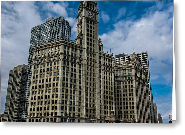 French Open Greeting Cards - Wrigley Building Greeting Card by Randy Scherkenbach