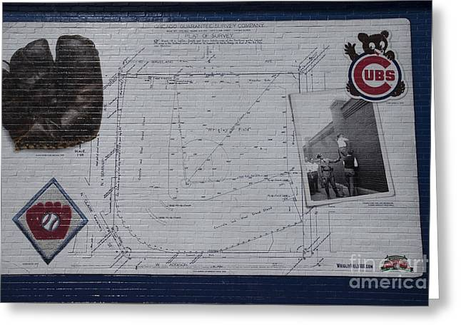 Fed Greeting Cards - Wrigley Field - Plat of Survey Greeting Card by David Bearden