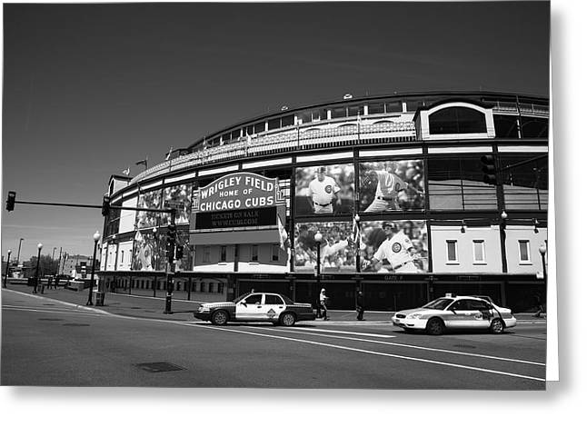 Baseball Photographs Greeting Cards - Wrigley Field - Chicago Cubs 13 Greeting Card by Frank Romeo