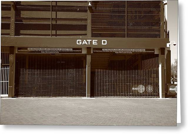 Grate Greeting Cards - Wrigley Field - Chicago Cubs 24 Greeting Card by Frank Romeo