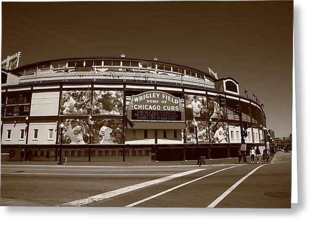 Wrigley Field - Chicago Cubs 26 Greeting Card by Frank Romeo