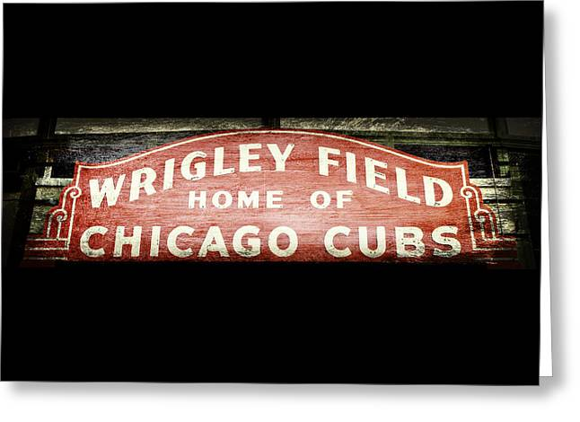 Ron Woods Greeting Cards - Wrigley Field Sign - No.2 Greeting Card by Stephen Stookey
