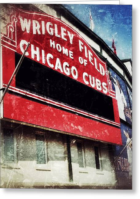 Best Sellers -  - Jame Hayes Greeting Cards - Wrigley Red Greeting Card by Jame Hayes
