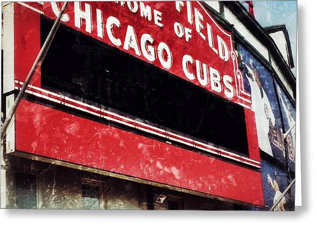Wrigley Red Greeting Card by Jame Hayes