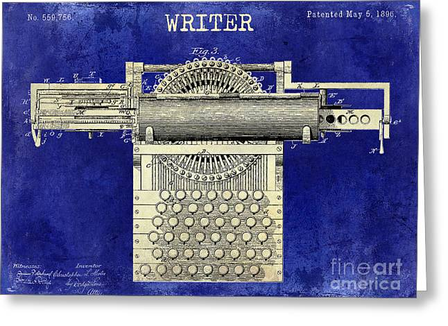 Reporter Greeting Cards - Writer Greeting Card by Jon Neidert