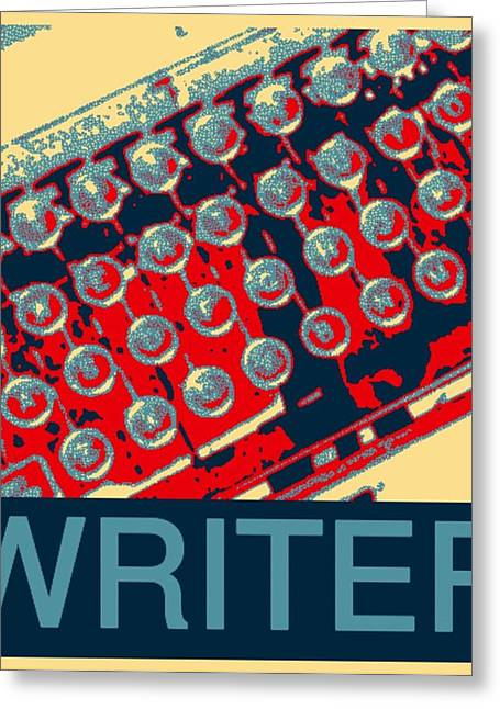 Typewriter Keys Greeting Cards - Writer Greeting Card by Karyn Robinson