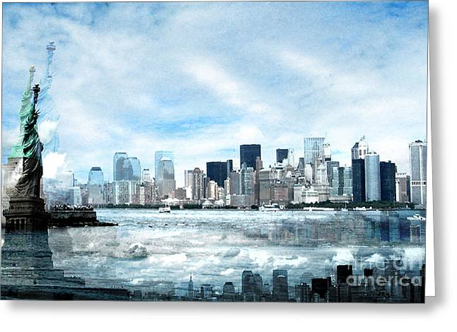 New York City Greeting Cards - Wrong Expectations New York City USA Greeting Card by Sabine Jacobs