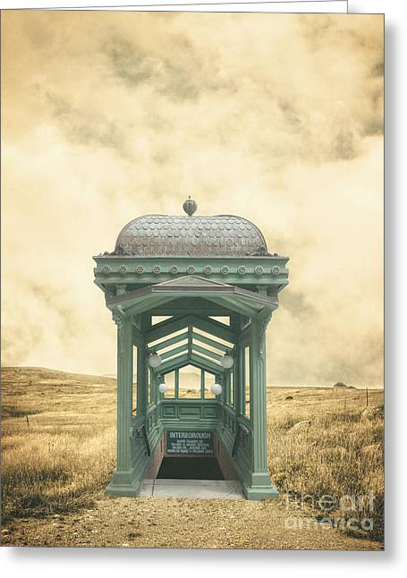 Ranch Photographs Greeting Cards - Wrong train right station Greeting Card by Edward Fielding