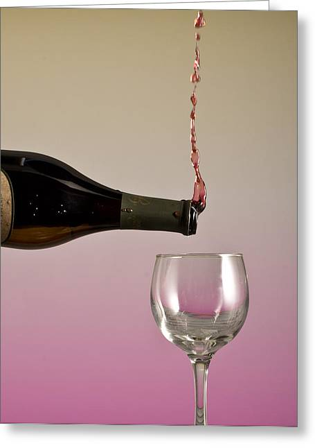 Wine Pour Greeting Cards - Wrong Wine Greeting Card by Janis Knight