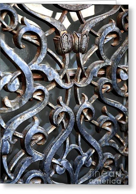Southern Design Greeting Cards - Wrought Iron Design Greeting Card by John Rizzuto