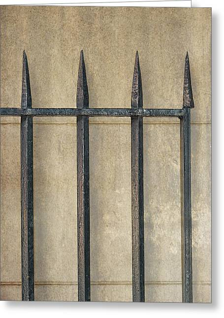 Brenda Bryant Greeting Cards - Wrought Iron Gate Greeting Card by Brenda Bryant