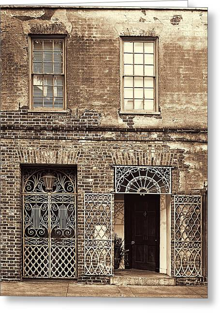French Doors Greeting Cards - Wrought Iron Gates Greeting Card by Marcia Colelli
