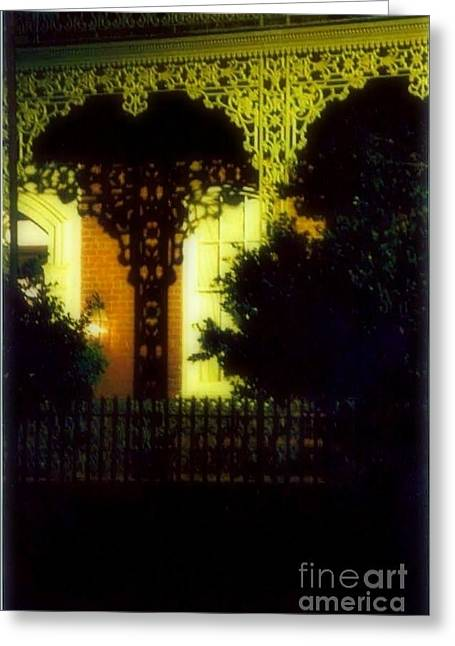 New Orleans Louisiana Plant Framed Prints Greeting Cards - Wrought Iron Lace Greeting Card by Michael Hoard