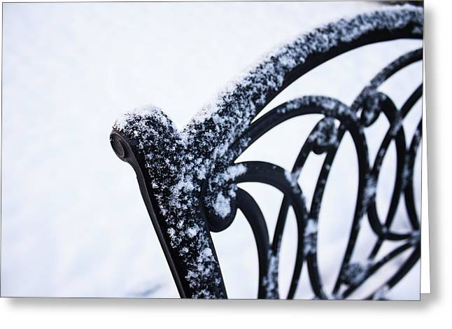 Lawn Chair Greeting Cards - Wrought-Iron Greeting Card by Nicole Parks