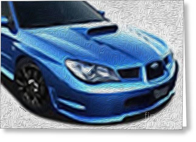 Impreza Greeting Cards - Wrx Greeting Card by Cheryl Young