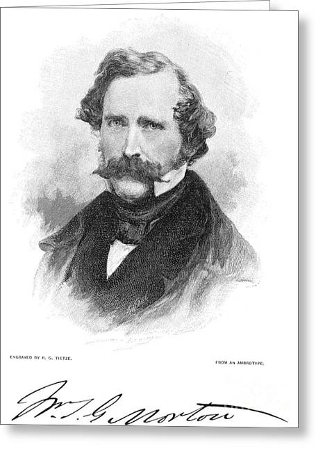 W.t.g. Morton (1819-1868) Greeting Card by Granger