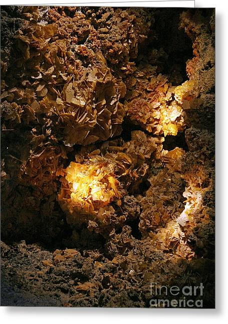 Wulfenite Cave Greeting Card by Afrodita Ellerman