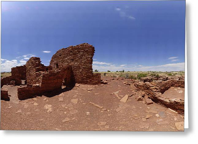 Sinagua Greeting Cards - Wupatki Lomaki Stone Dwellings July 24 2011 Greeting Card by Brian Lockett