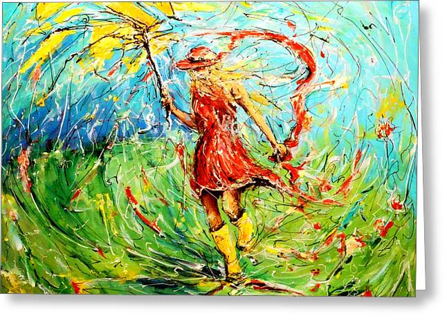 Recently Sold -  - Abstract Expression Greeting Cards - Wuthering Heights Greeting Card by Mathias