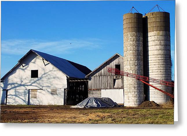 Landscape Posters Greeting Cards - Wv barn Greeting Card by Chris Flees