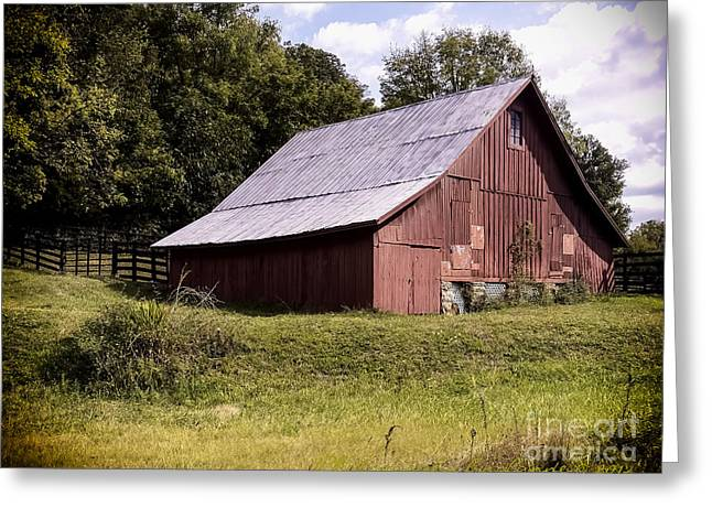 Recently Sold -  - Red Roofed Barn Greeting Cards - WV Barn Greeting Card by Gena Weiser