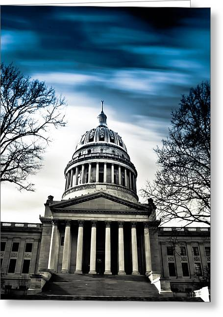Capitol Greeting Cards - WV State Capitol Building Greeting Card by Shane Holsclaw