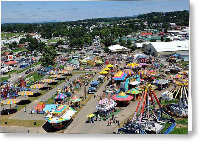 Wv Greeting Cards - WV State Fair Birds Eye View Greeting Card by Todd Hostetter