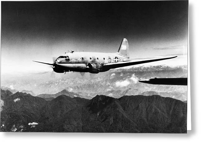 Carousel Collection Greeting Cards - Ww Ii: Transport Aircraft Greeting Card by Granger