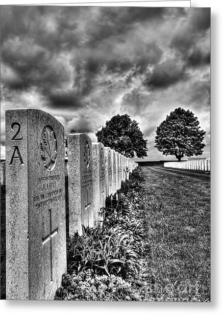 Senseless Greeting Cards - WW1 Cemetery Greeting Card by Colin Woods
